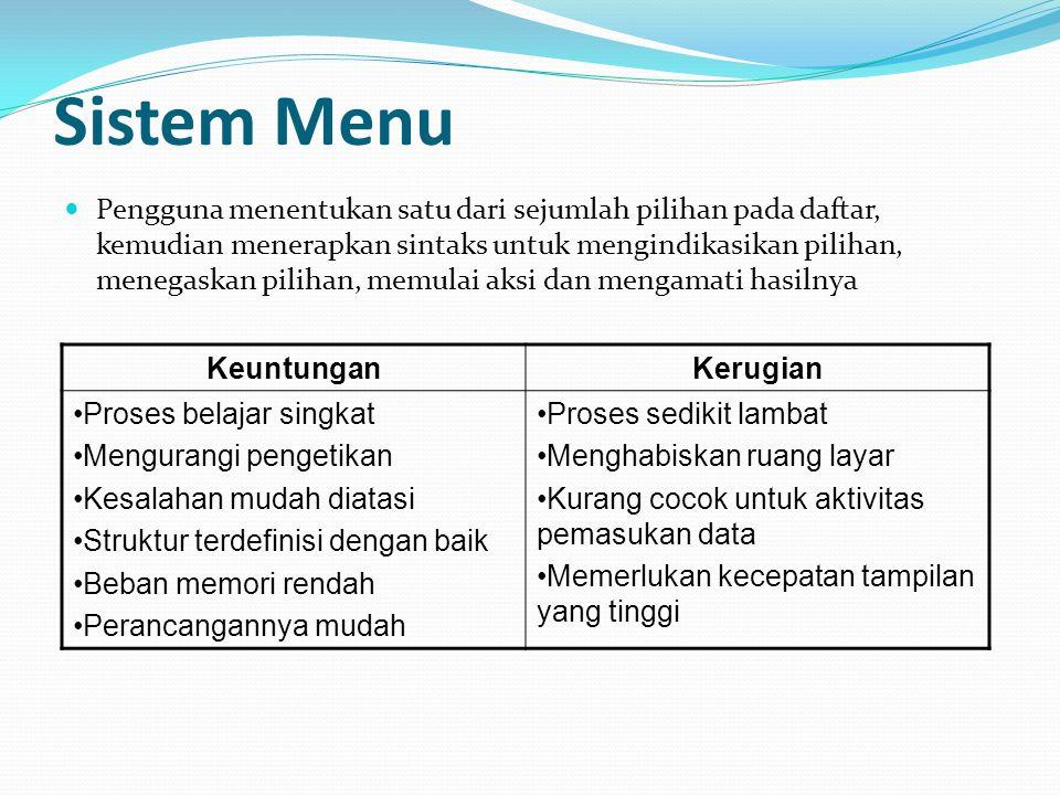 Sistem Menu
