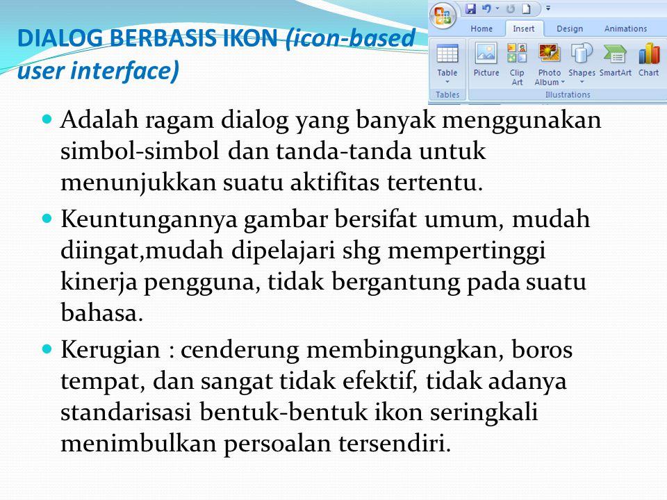 DIALOG BERBASIS IKON (icon-based user interface)