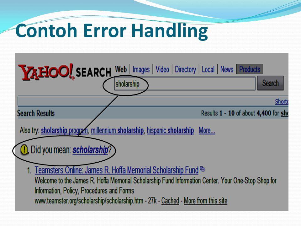 Contoh Error Handling