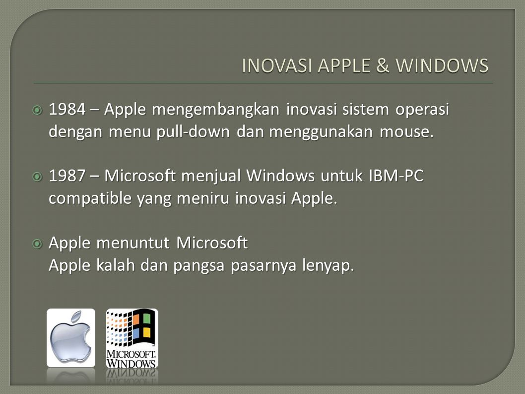 INOVASI APPLE & WINDOWS