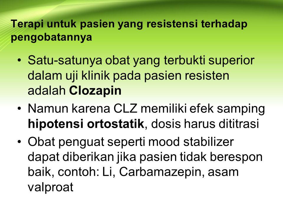 Terapi untuk pasien yang resistensi terhadap pengobatannya