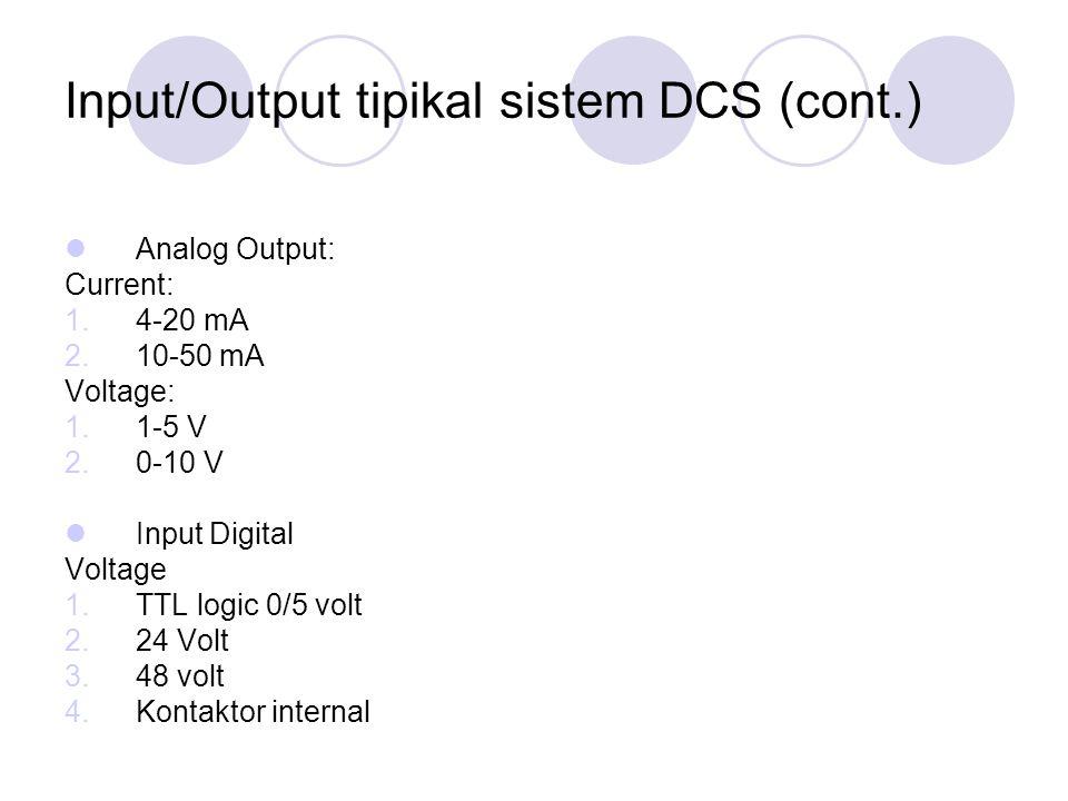 Input/Output tipikal sistem DCS (cont.)