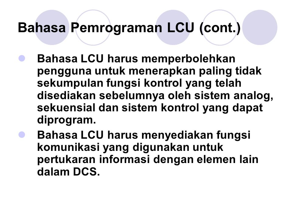 Bahasa Pemrograman LCU (cont.)