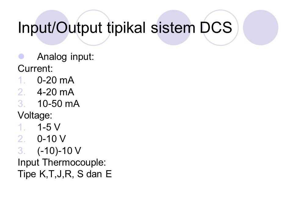 Input/Output tipikal sistem DCS