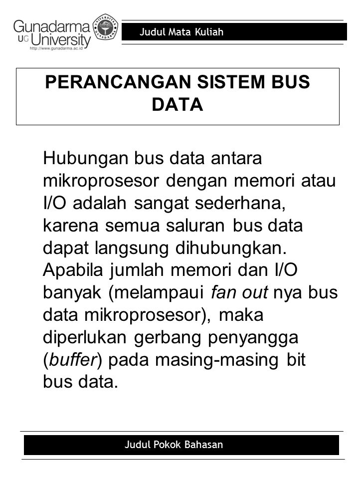 PERANCANGAN SISTEM BUS DATA