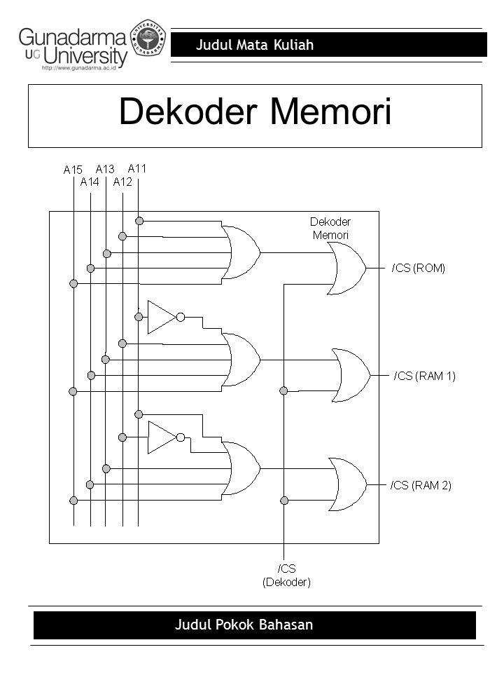 Dekoder Memori Judul Pokok Bahasan