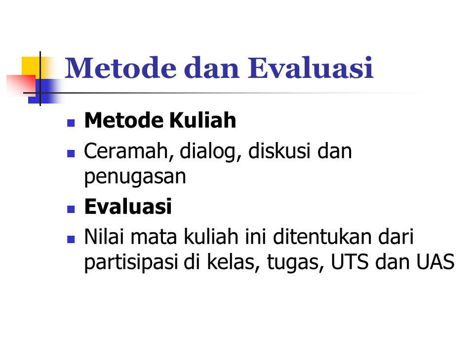 Metode dan Evaluasi Metode Kuliah