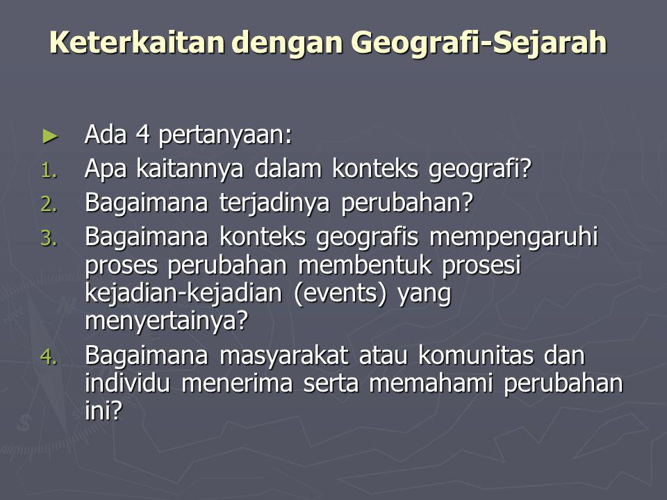 Keterkaitan dengan Geografi-Sejarah