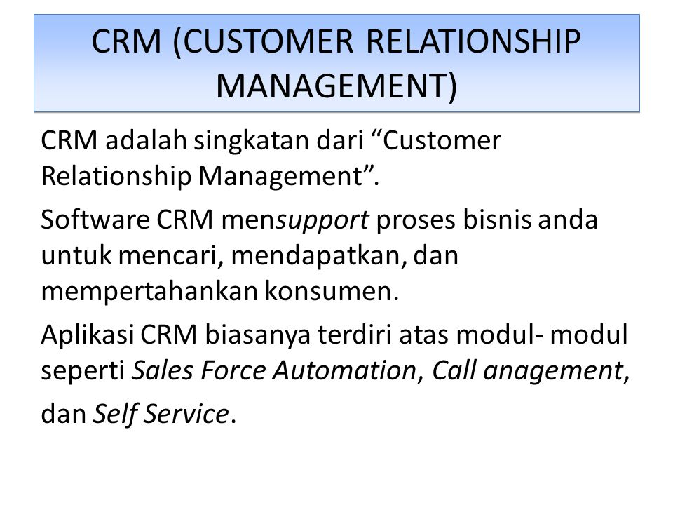 electronic customer relationship management adalah tupai