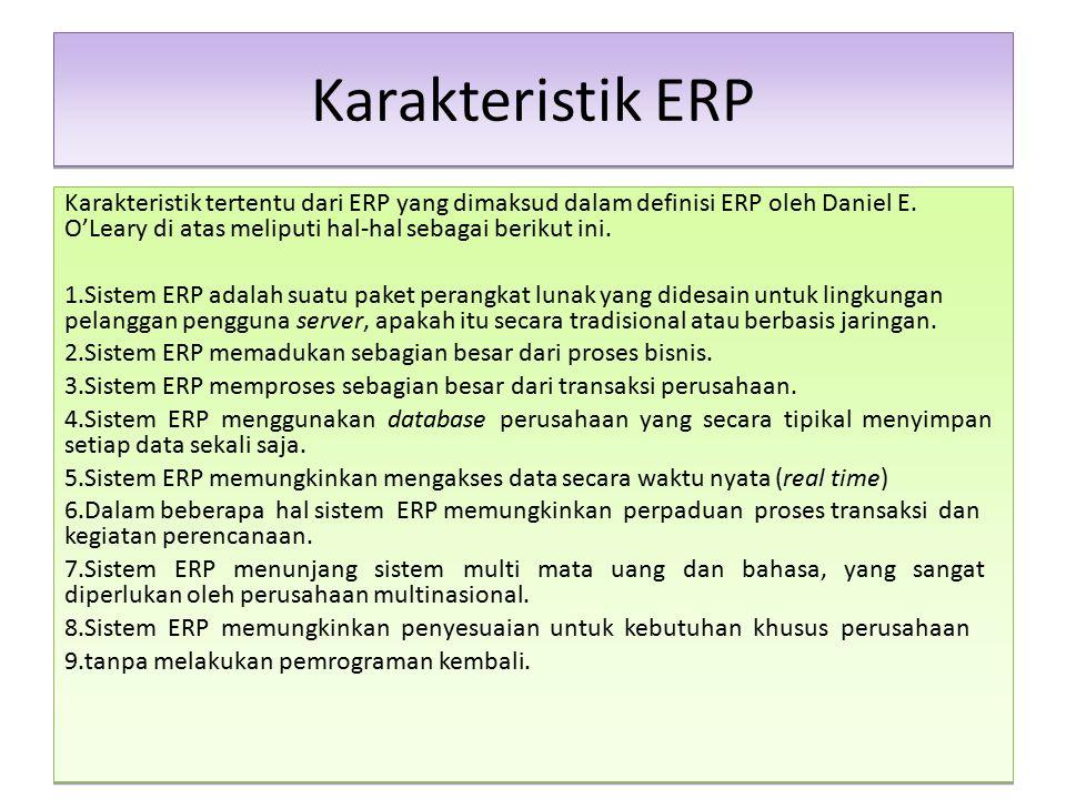 Karakteristik ERP