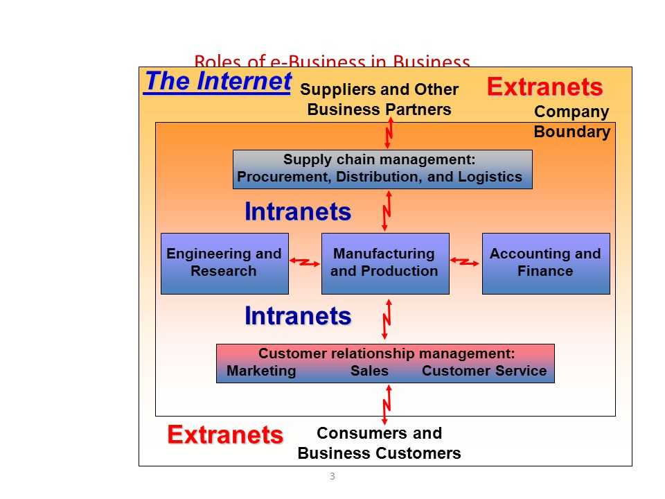 The Internet Extranets Intranets Intranets Extranets