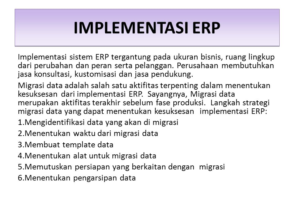 IMPLEMENTASI ERP