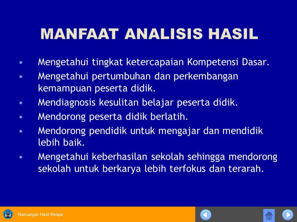 MANFAAT ANALISIS HASIL