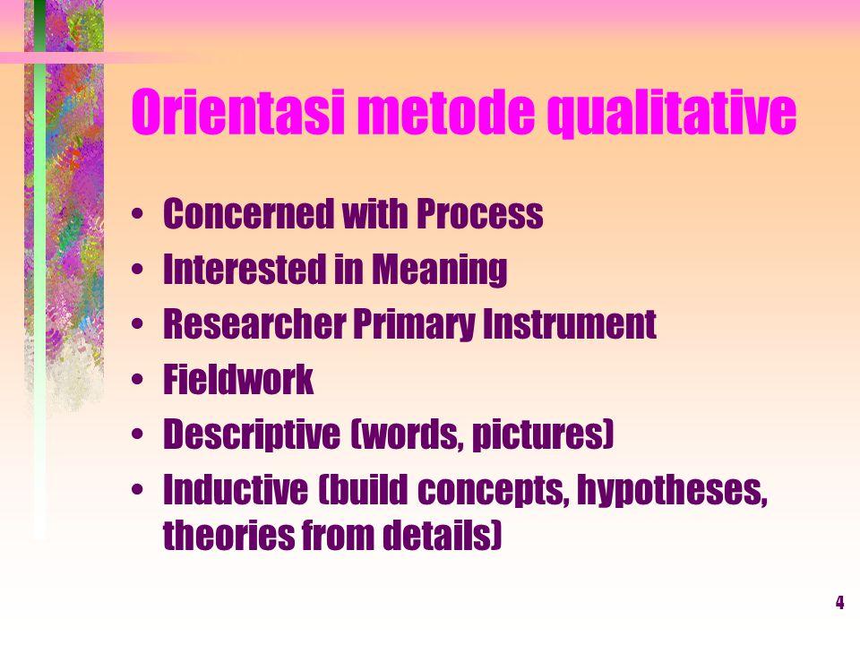 Orientasi metode qualitative