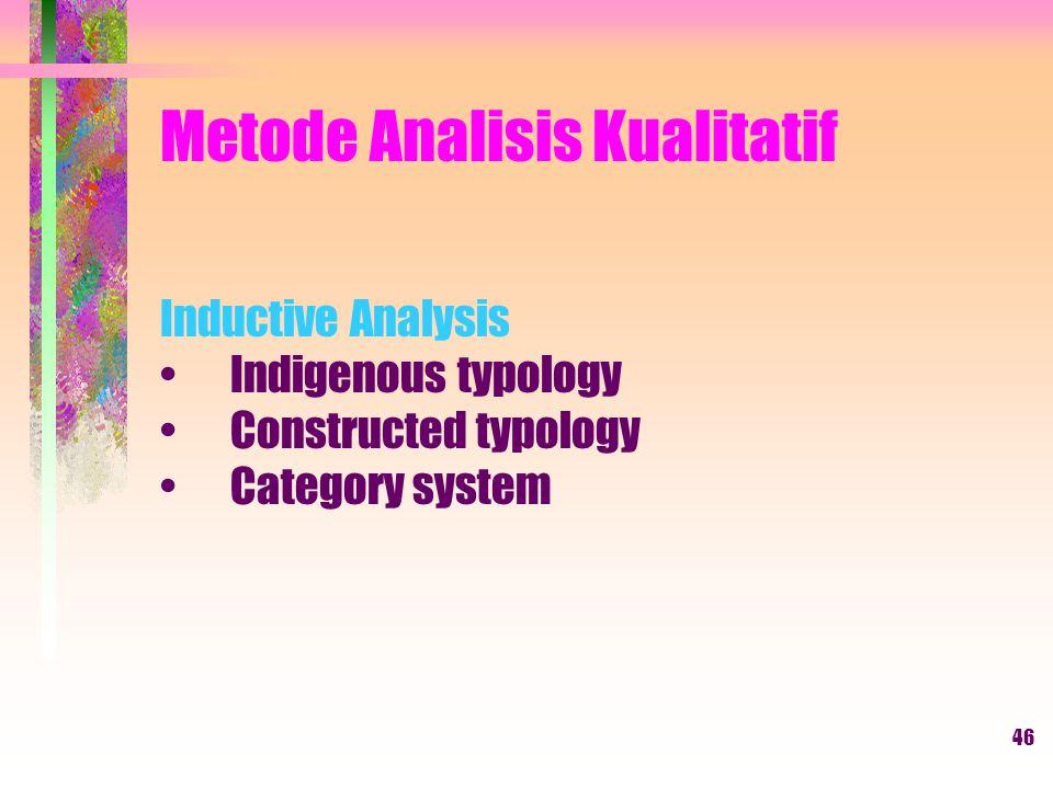 Metode Analisis Kualitatif