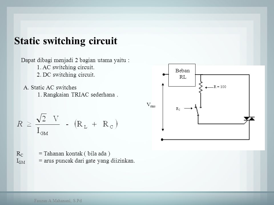 Static switching circuit