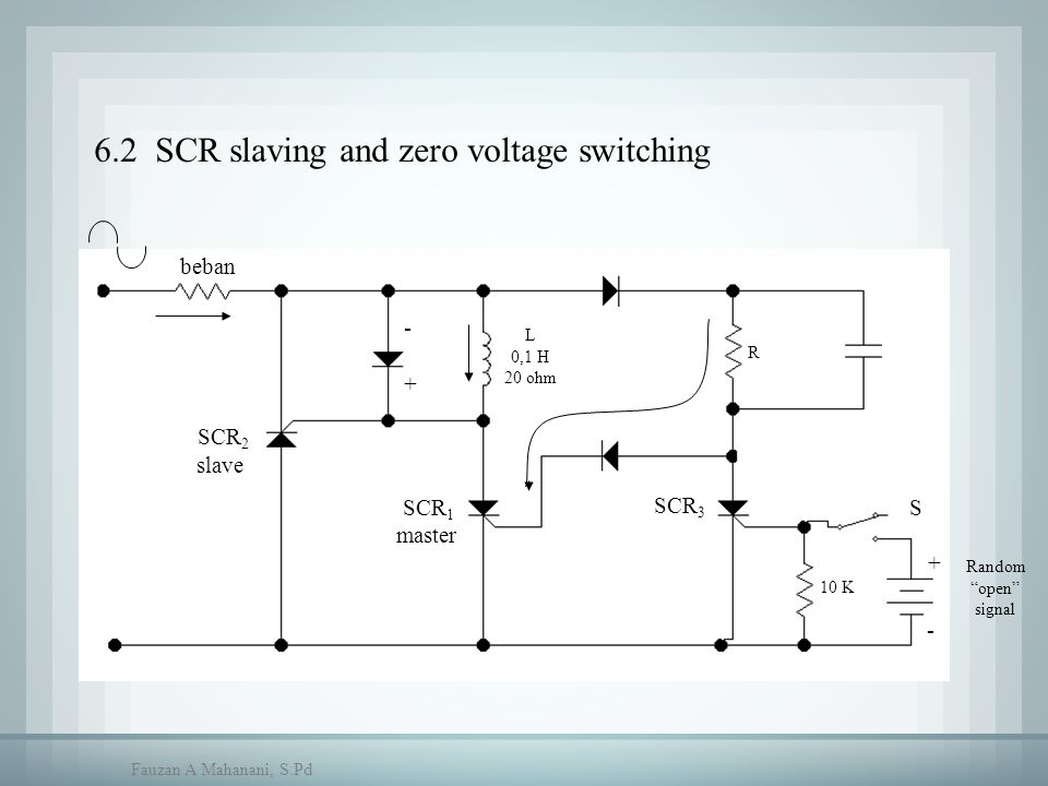 6.2 SCR slaving and zero voltage switching