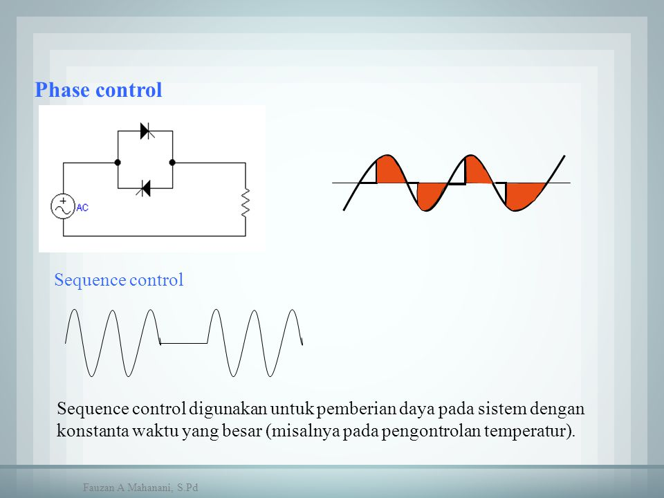 Phase control Sequence control