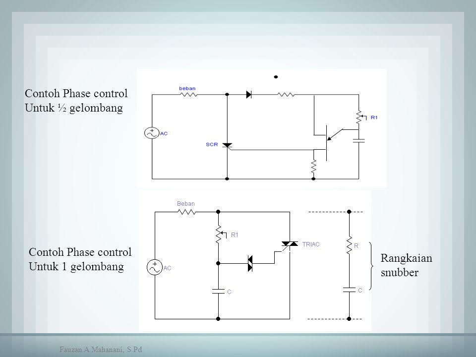 Contoh Phase control Untuk ½ gelombang Contoh Phase control