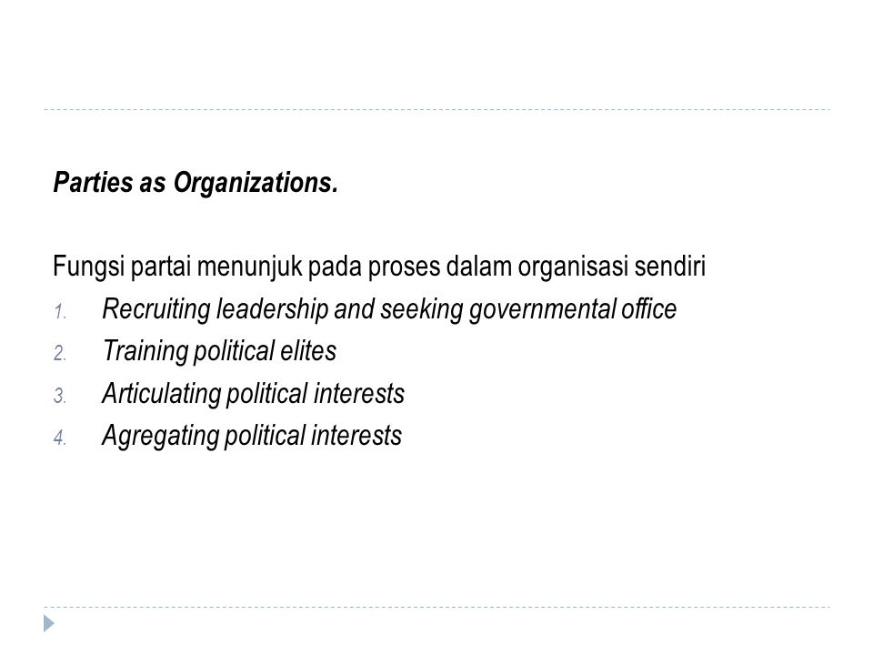 Parties as Organizations.