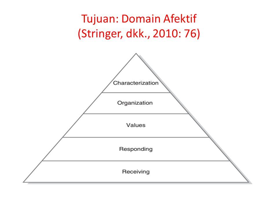 Tujuan: Domain Afektif (Stringer, dkk., 2010: 76)