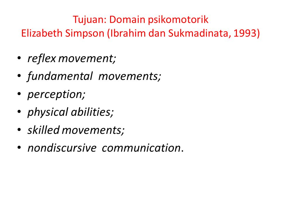 fundamental movements; perception; physical abilities;