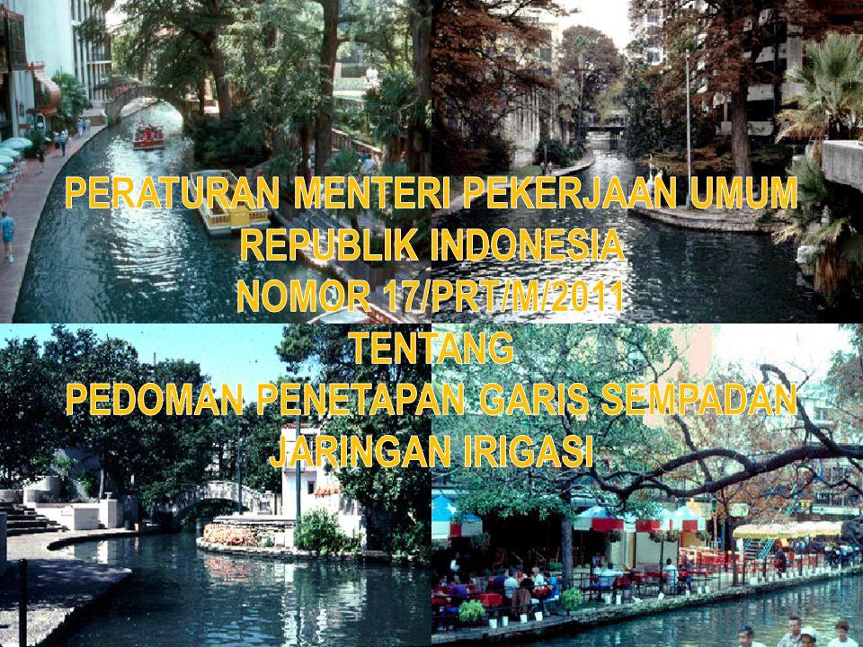PERATURAN MENTERI PEKERJAAN UMUM REPUBLIK INDONESIA