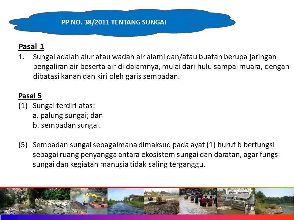 PP NO. 38/2011 TENTANG SUNGAI Pasal 1.