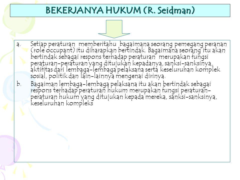 BEKERJANYA HUKUM (R. Seidman)