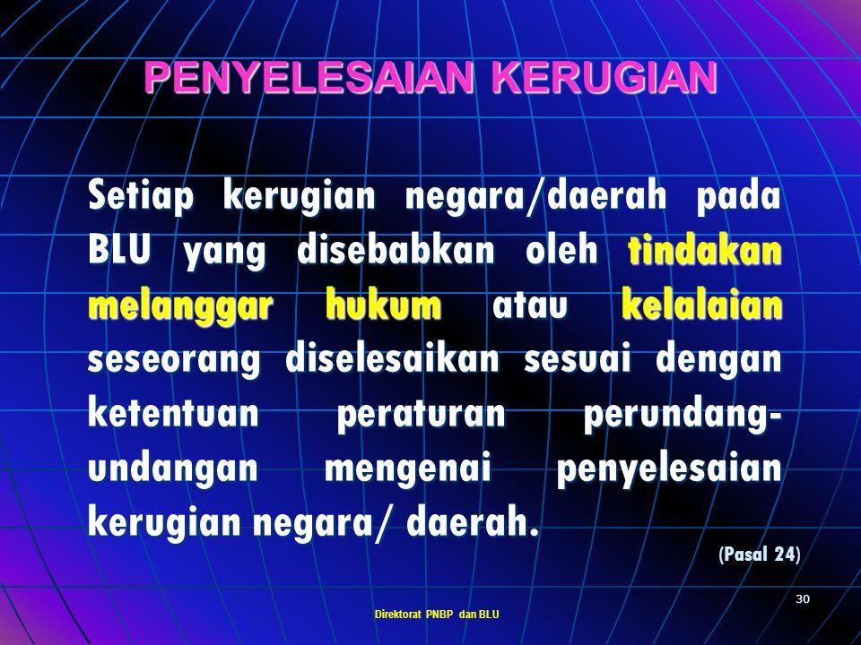 PENYELESAIAN KERUGIAN