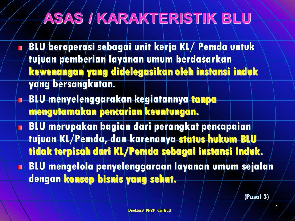 ASAS / KARAKTERISTIK BLU