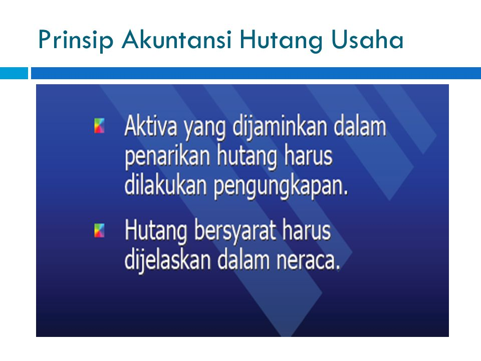 Prinsip Akuntansi Hutang Usaha