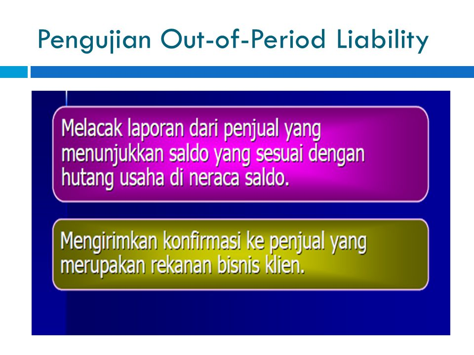 Pengujian Out-of-Period Liability