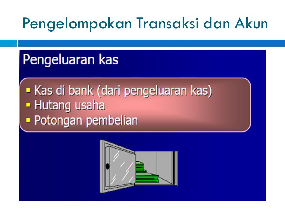 Pengelompokan Transaksi dan Akun