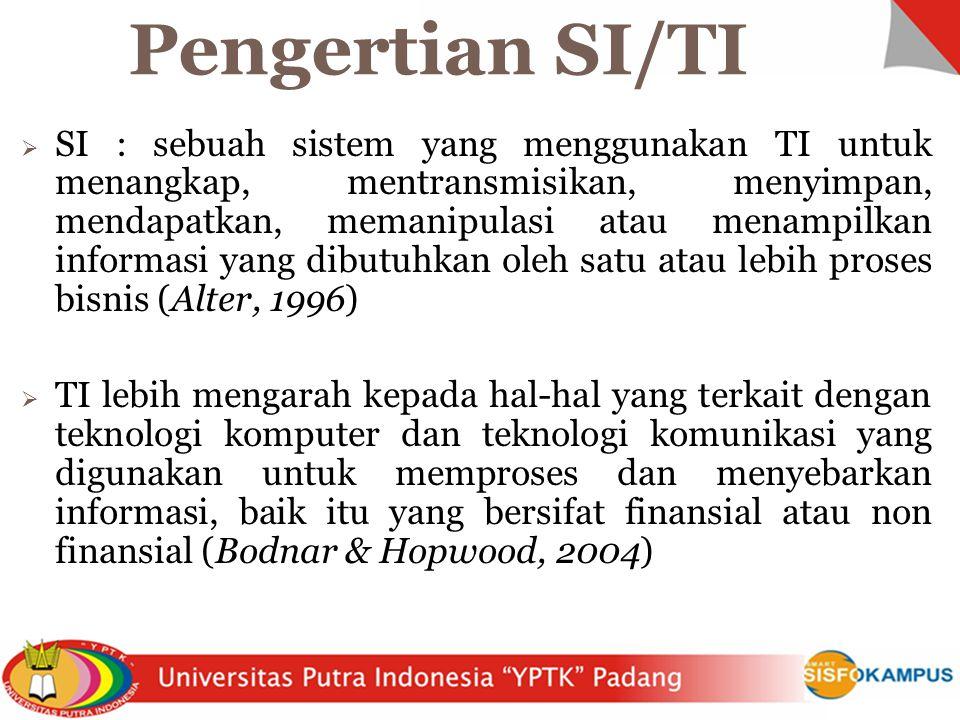 Pengertian SI/TI
