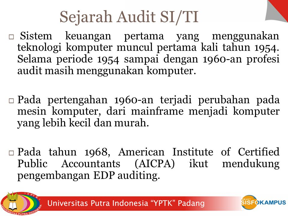 Sejarah Audit SI/TI