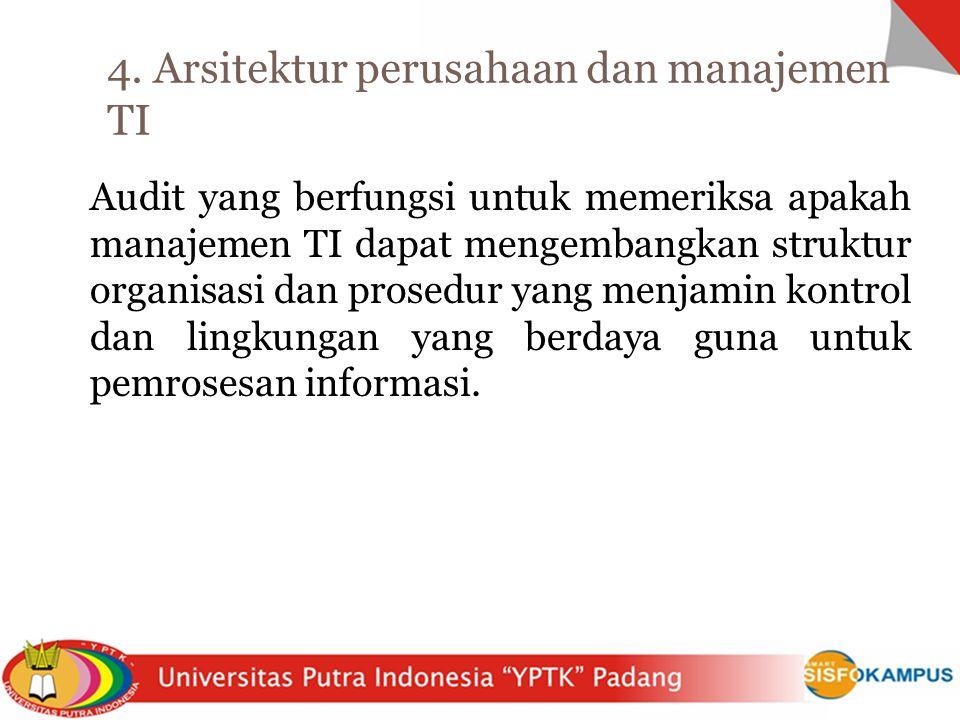 4. Arsitektur perusahaan dan manajemen TI