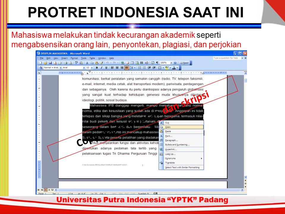 PROTRET INDONESIA SAAT INI