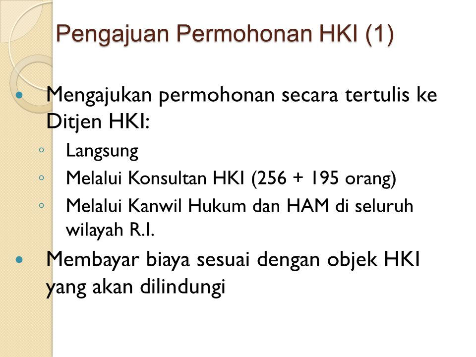 Pengajuan Permohonan HKI (1)