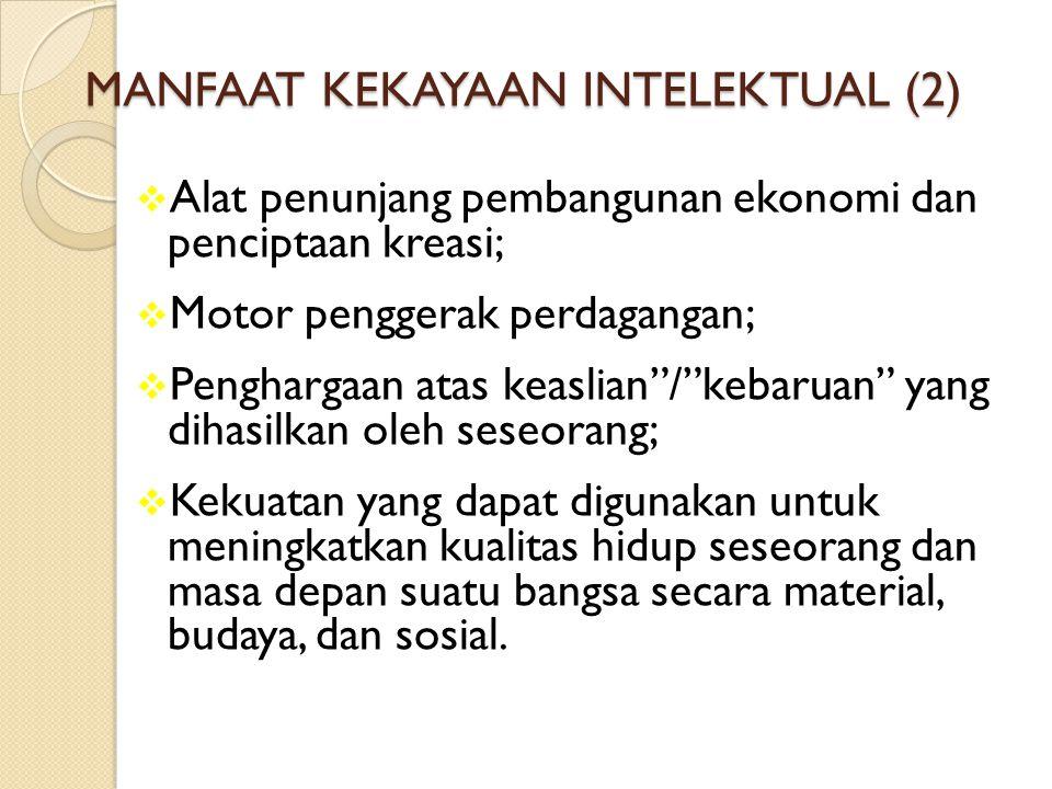 MANFAAT KEKAYAAN INTELEKTUAL (2)