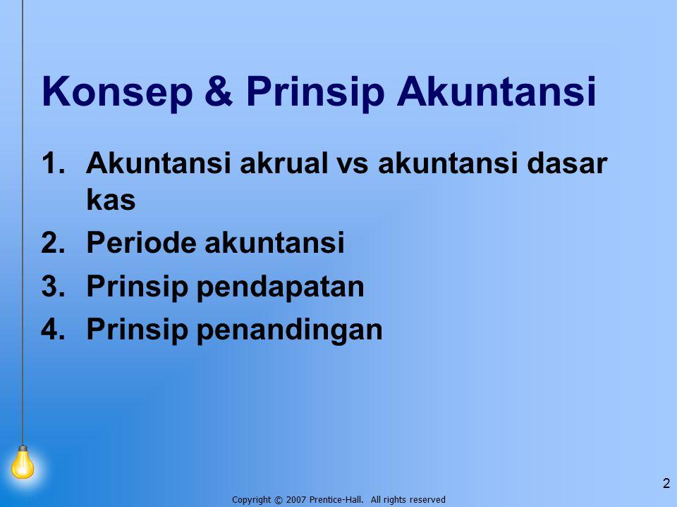 Konsep & Prinsip Akuntansi