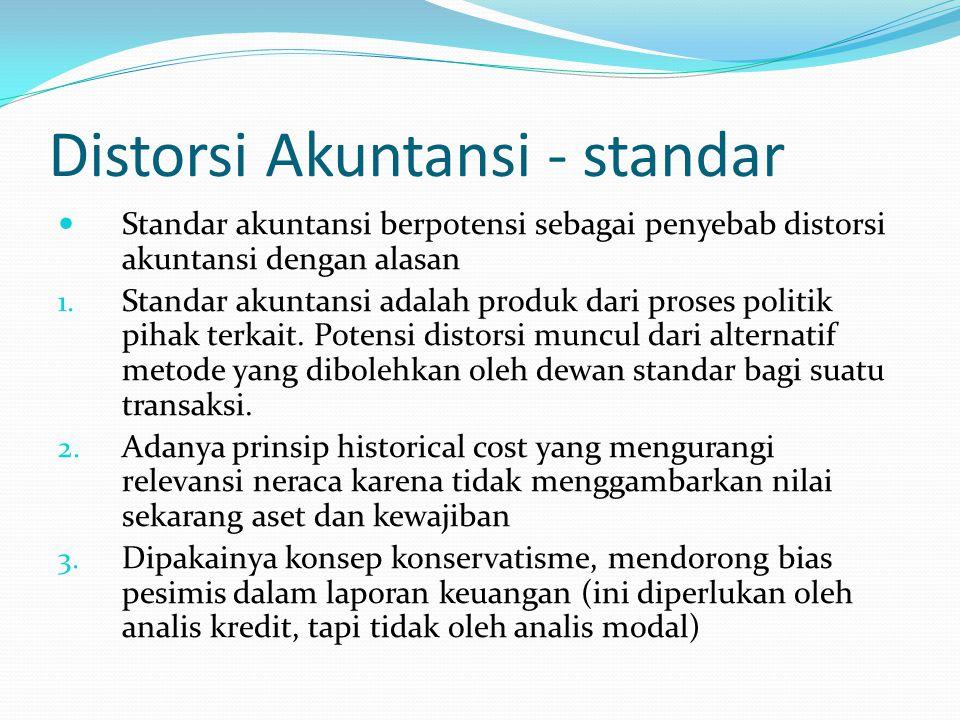 Distorsi Akuntansi - standar