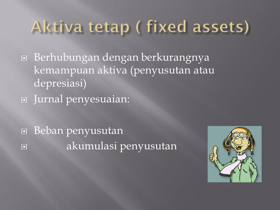 Aktiva tetap ( fixed assets)