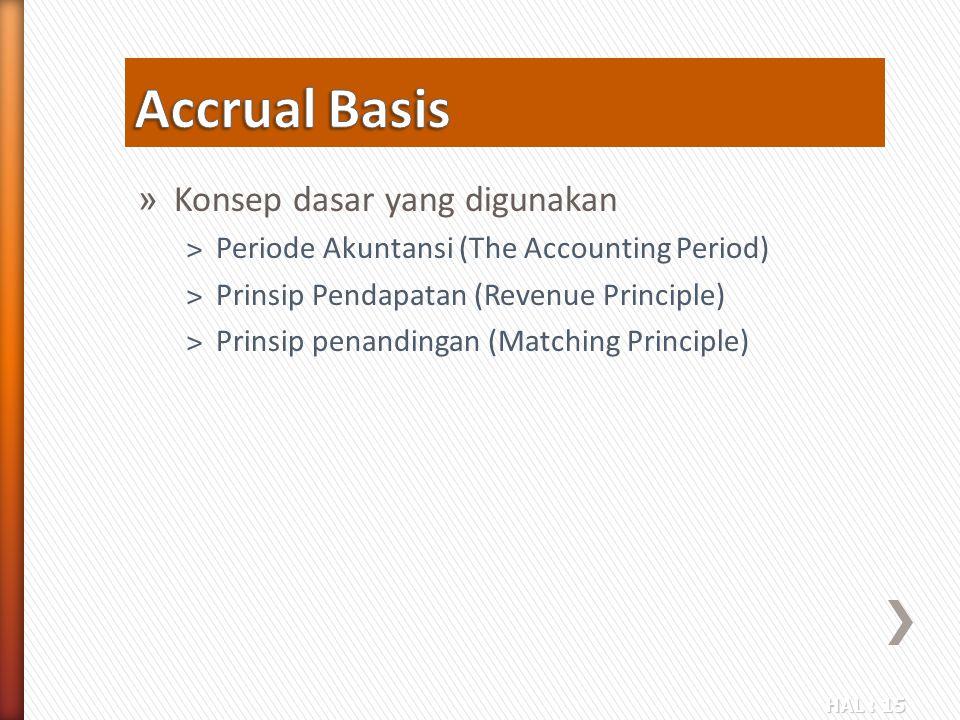 Accrual Basis Konsep dasar yang digunakan