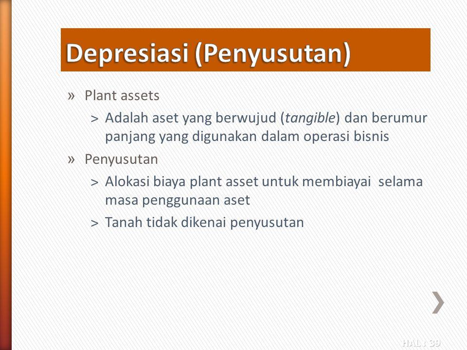 Depresiasi (Penyusutan)