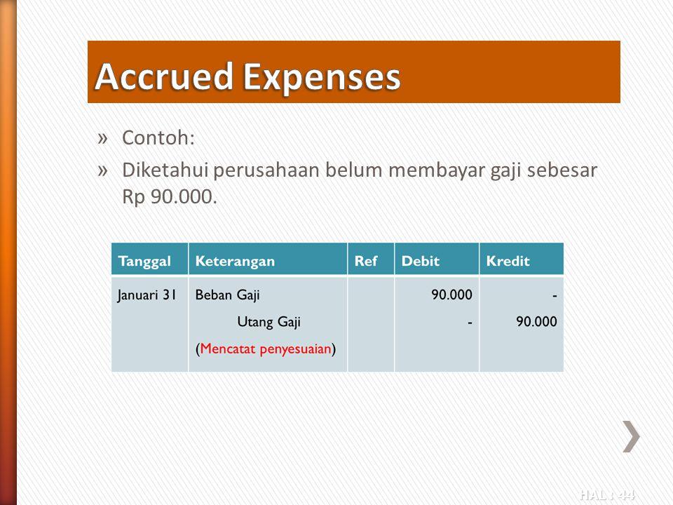 Accrued Expenses Contoh: