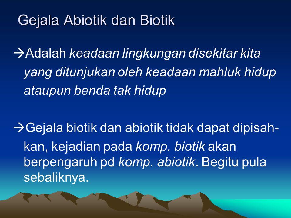 Gejala Abiotik dan Biotik