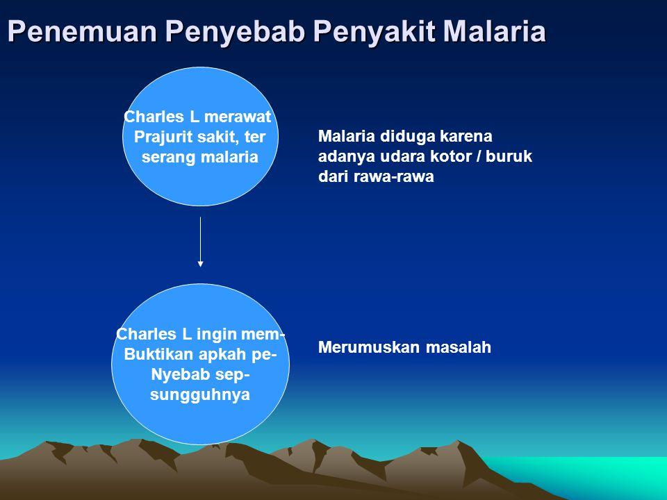 Penemuan Penyebab Penyakit Malaria