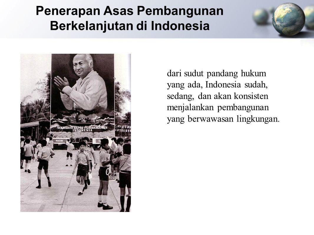 Penerapan Asas Pembangunan Berkelanjutan di Indonesia