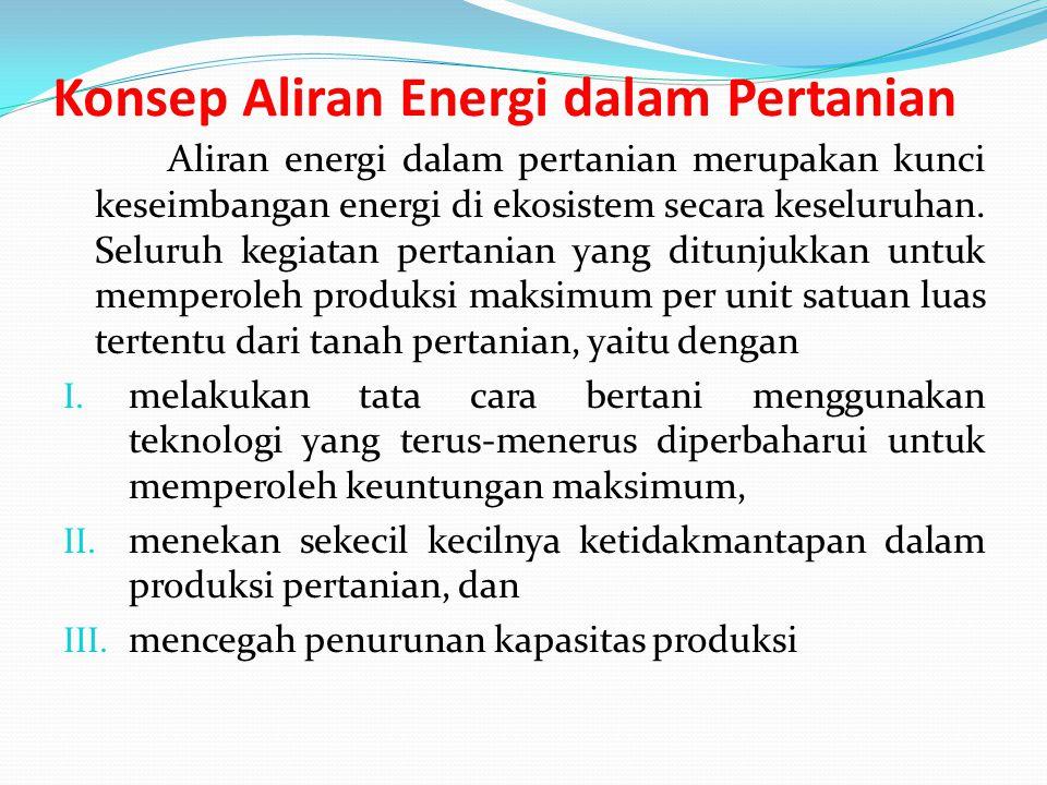 Konsep Aliran Energi dalam Pertanian